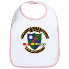Army - Company F, 75th Infantry w SVC Ribbons Bib