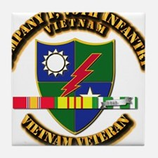 Army - Company F, 75th Infantry w SVC Ribbons Tile