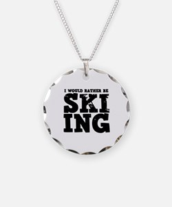 'Rather Be Skiing' Necklace