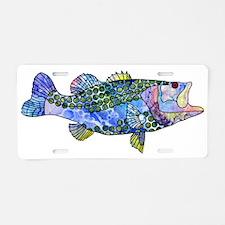 Wild Bass Aluminum License Plate