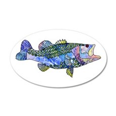 Wild Bass Wall Decal
