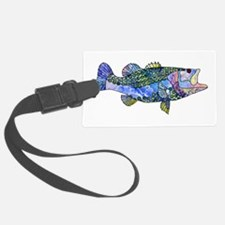 Wild Bass Luggage Tag