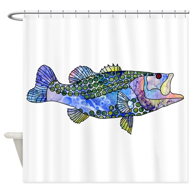 Wild Bass Shower Curtain by zodiarts