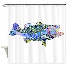 Wild Bass Shower Curtain
