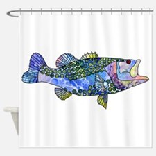 Wild Bass Shower Curtain