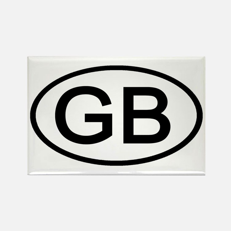 Great Britain - GB Oval Rectangle Magnet (10 pack)