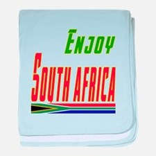 Enjoy South Africa Flag Designs baby blanket