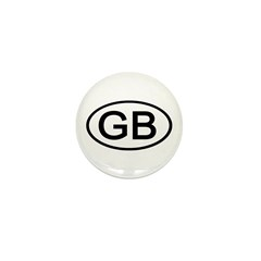 Great Britain - GB Oval Mini Button (10 pack)