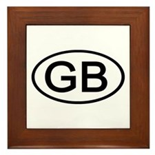 Great Britain - GB Oval Framed Tile
