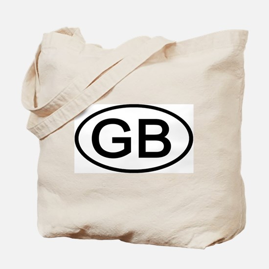 Great Britain - GB Oval Tote Bag