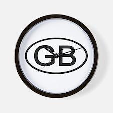Great Britain - GB Oval Wall Clock