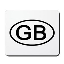 Great Britain - GB Oval Mousepad