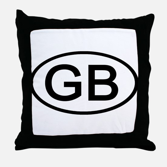 Great Britain - GB Oval Throw Pillow
