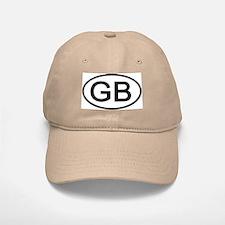 Great Britain - GB Oval Baseball Baseball Cap