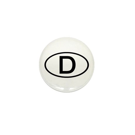 Germany - D Oval Mini Button
