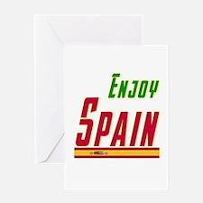 Enjoy Spain Flag Designs Greeting Card
