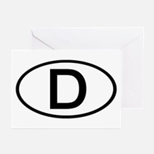 Germany - D Oval Greeting Cards (Pk of 10)