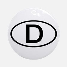 Germany - D Oval Ornament (Round)