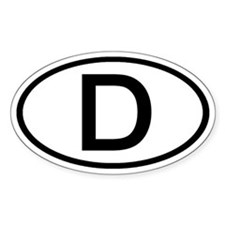 Germany - D Oval Oval Decal