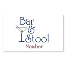 Bar & Stool Rectangle Decal