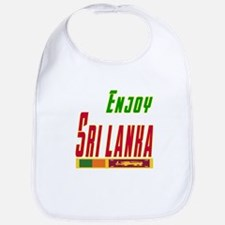 Enjoy Sri Lanka Flag Designs Bib