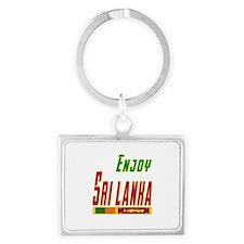 Enjoy Sri Lanka Flag Designs Landscape Keychain