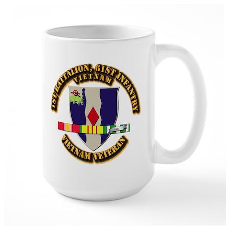 Army - 1st Battalion, 61st Infantry Large Mug