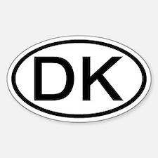 Denmark - DK Oval Oval Decal