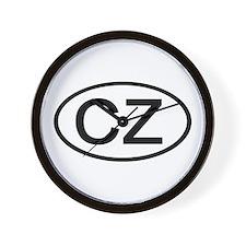 Czech Republic - CZ Oval Wall Clock