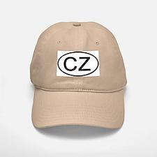 Czech Republic - CZ Oval Baseball Baseball Cap