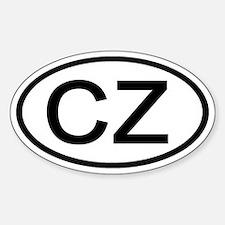 Czech Republic - CZ Oval Oval Decal