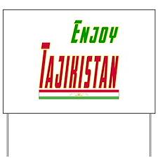 Enjoy Tajikistan Flag Designs Yard Sign