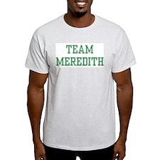 TEAM MEREDITH  Ash Grey T-Shirt