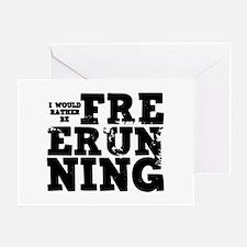 'Free Running' Greeting Card