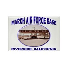 March Air Force Base Rectangle Magnet