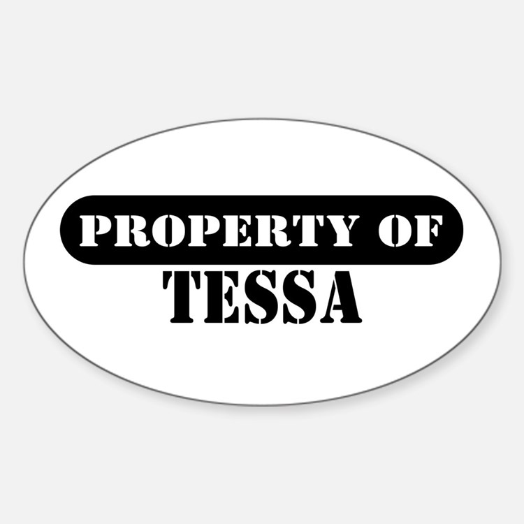 Property of Tessa Oval Decal