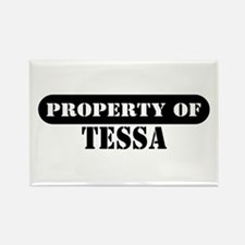 Property of Tessa Rectangle Magnet