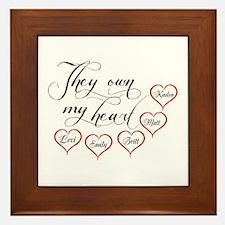 Children They own my heart Framed Tile