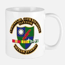 Army - Company H, 75th Infantry w SVC Ribbons Mug