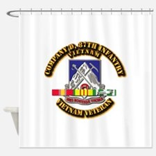Army - Company D, 87th Infantry Shower Curtain