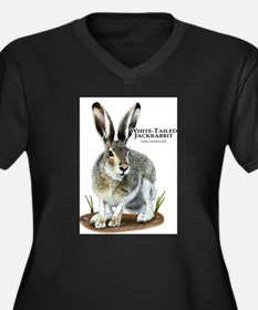 White-Tailed Jackrabbit Women's Plus Size V-Neck D