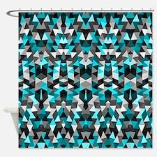 Mix #324, Grey Blue Shower Curtain