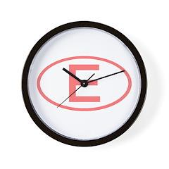 Spain - E Oval Wall Clock