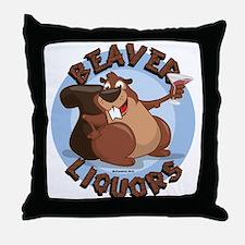 Beaver-Liqours.png Throw Pillow