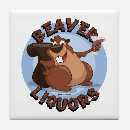 Beaver-Liqours.png Tile Coaster