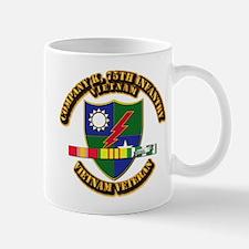 Army - Company K, 75th Infantry w SVC Ribbons Mug