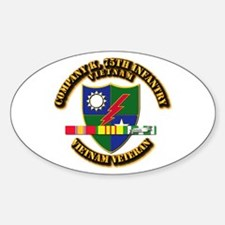 Army - Company K, 75th Infantry w SVC Ribbons Stic