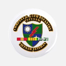 """Army - Company L, 75th Infantry w SVC Ribbons 3.5"""""""