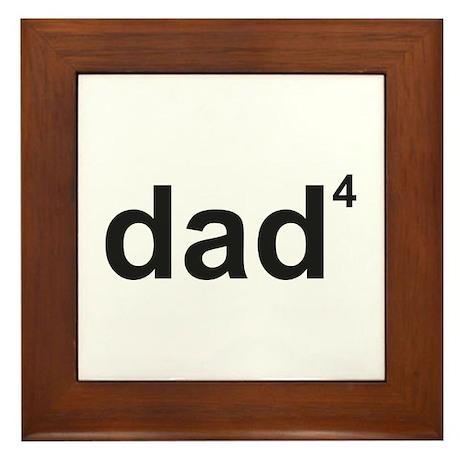 Dad Of Four Framed Tile