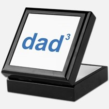 Dad Of Three Keepsake Box